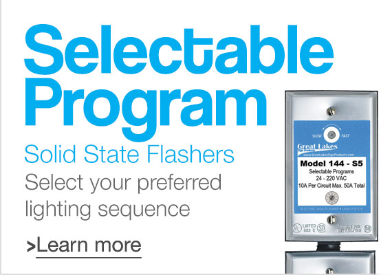Selectable Program Solid State Flashers